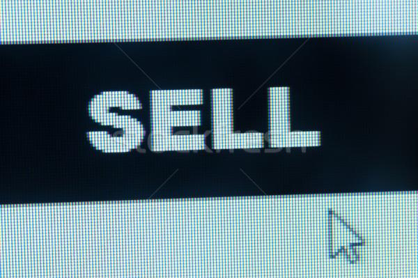Elad szó kurzor számítógépmonitor egér monitor Stock fotó © raywoo