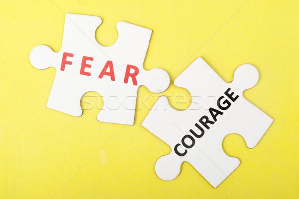Korku cesaret iki parçalar birlikte Stok fotoğraf © raywoo
