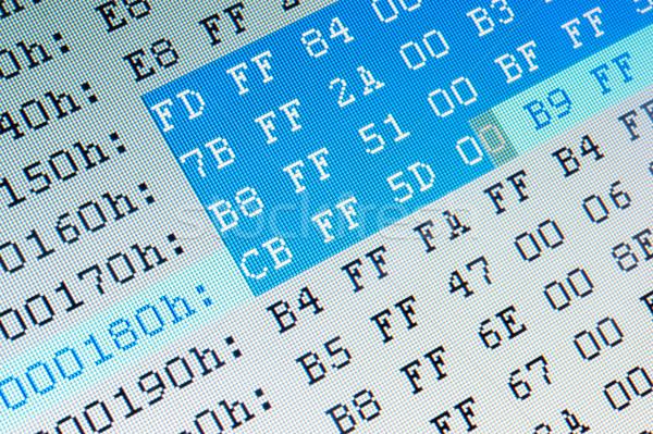 Gegevens computer lcd monitor technologie Stockfoto © raywoo