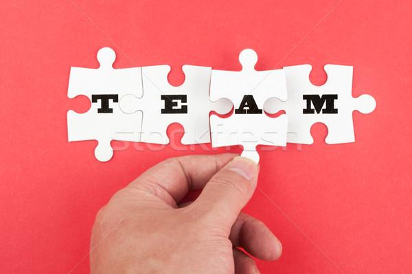 Stockfoto: Team · woord · groep · stuk · brief