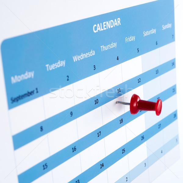 Pinned on calendar Stock photo © raywoo
