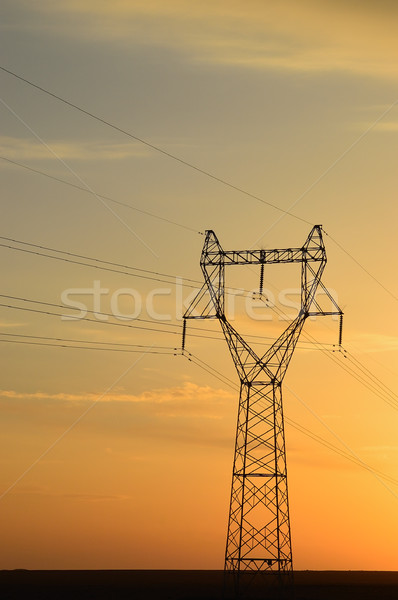 полюс закат пустыне природы области промышленности Сток-фото © raywoo