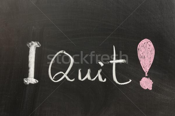 Stock photo: I quit