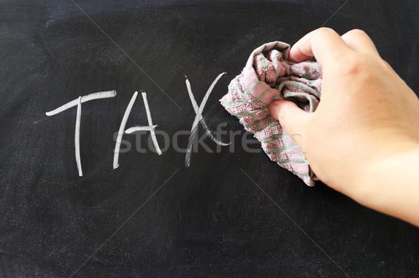 ストックフォト: オフ · 税 · 手 · 言葉 · テクスチャ · 洗浄