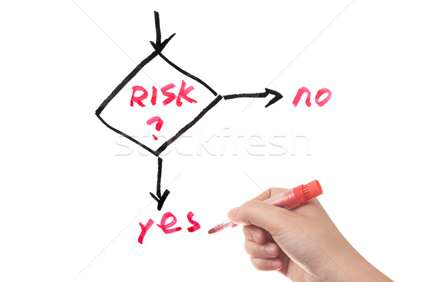 Risk management work flow Stock photo © raywoo