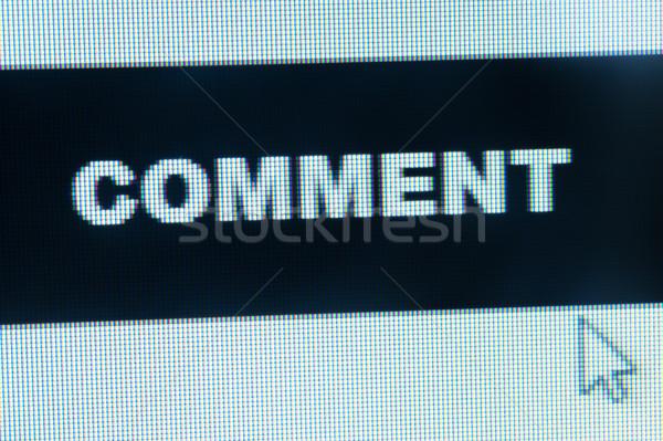 Megjegyzés szó kurzor számítógépmonitor egér felirat Stock fotó © raywoo