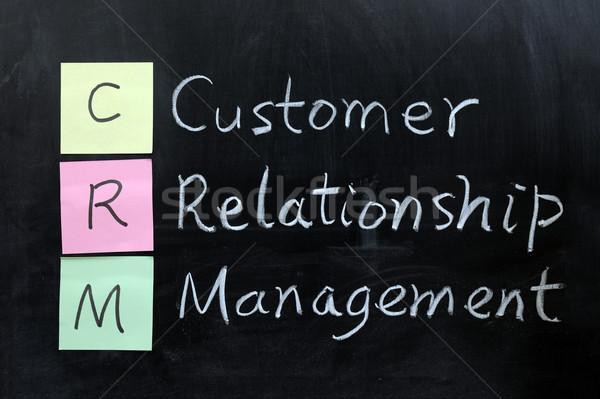 CRM, Customer Relationship Management Stock photo © raywoo