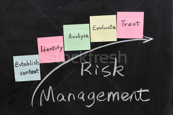 Concept of risk management Stock photo © raywoo