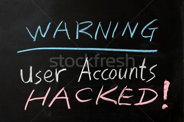 User accounts hacked Stock photo © raywoo