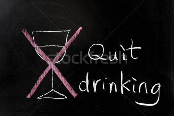 Quit drinking Stock photo © raywoo