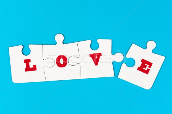 Stockfoto: Liefde · woord · groep · stuk · Rood