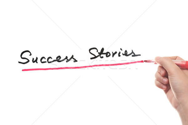 Siker szavak írott fehér tábla ír győzelem Stock fotó © raywoo