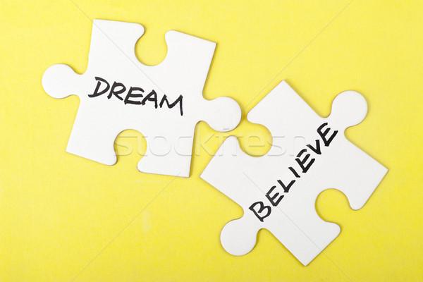 Dream or believe Stock photo © raywoo
