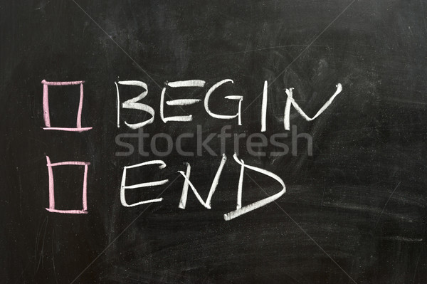 Begin or end Stock photo © raywoo