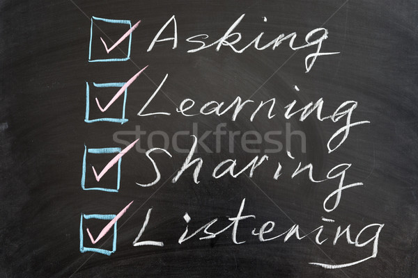 Learning methods concept Stock photo © raywoo