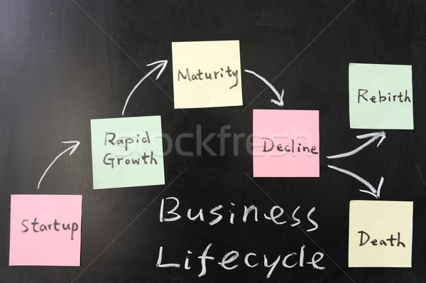 бизнеса Жизненный цикл доске модель Дать черный Сток-фото © raywoo