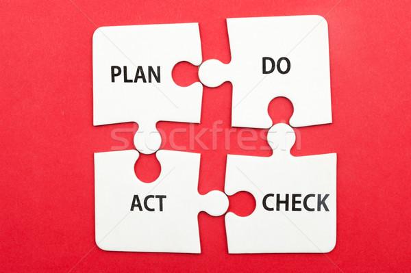 ストックフォト: ビジネス · ワークフロー · 計画 · チェック · 行為 · モデル