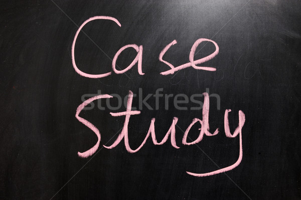 Cas étude dessin à la craie design fond éducation Photo stock © raywoo
