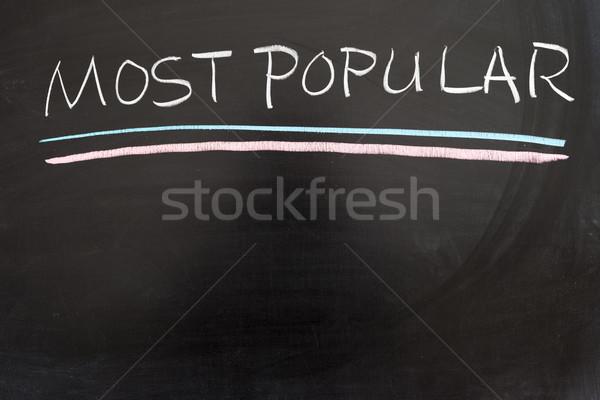 Popular lista lousa escrita linha Foto stock © raywoo