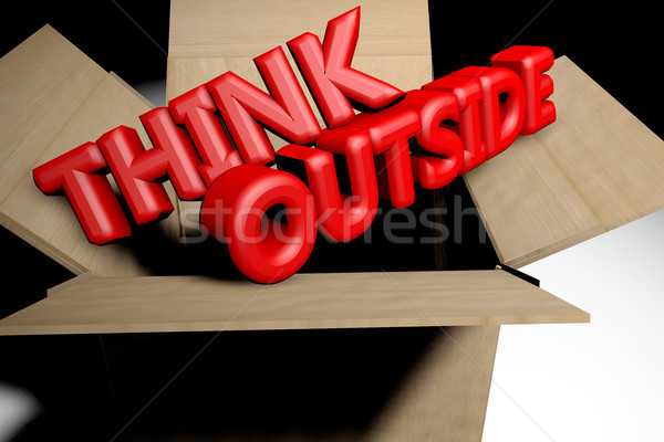 Think outside the box concept Stock photo © raywoo