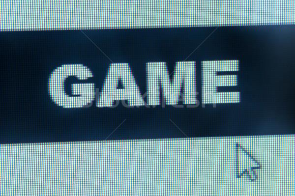 Gry słowo kursor monitor komputerowy komputera myszą Zdjęcia stock © raywoo
