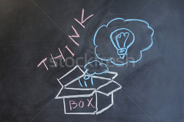 Think outside the box Stock photo © raywoo