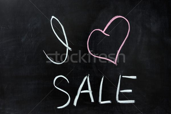любви продажи рисунок мелом бизнеса Дать магазин Сток-фото © raywoo