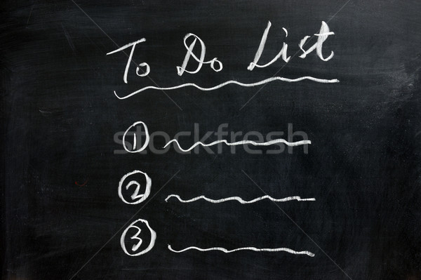Schoolbord tekening to do list business schrijven brief Stockfoto © raywoo