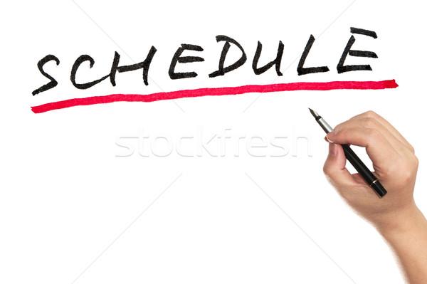 Schedule Stock photo © raywoo