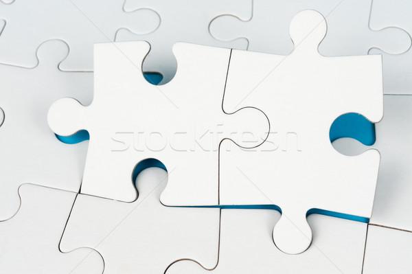 パズル グループ 白 紙 ゲーム ストックフォト © raywoo