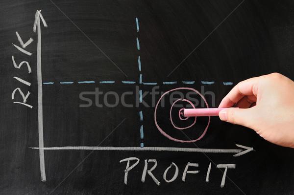 Risk-Profit graph Stock photo © raywoo