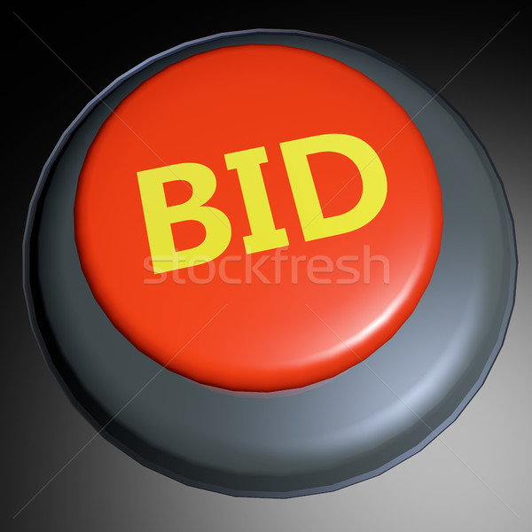 Bid 3D button Stock photo © raywoo