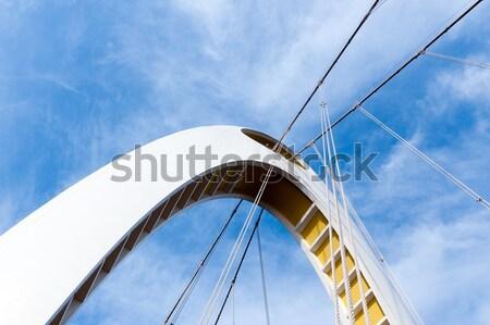 Most dolny widoku nowoczesne arch. szczegół Zdjęcia stock © raywoo