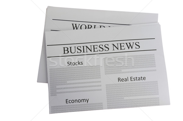 Business news newspaper Stock photo © raywoo