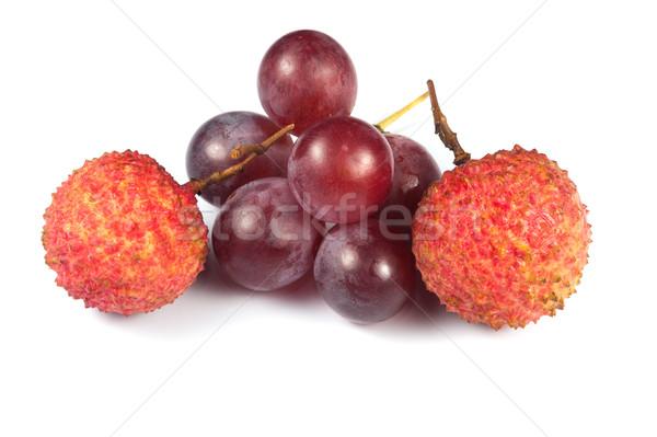 Zdjęcia stock: Owoce · grupy · winogron · świeże · słodkie · makro