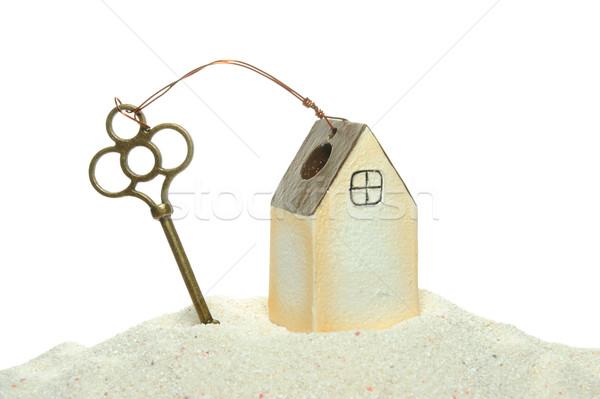 key and house model Stock photo © raywoo