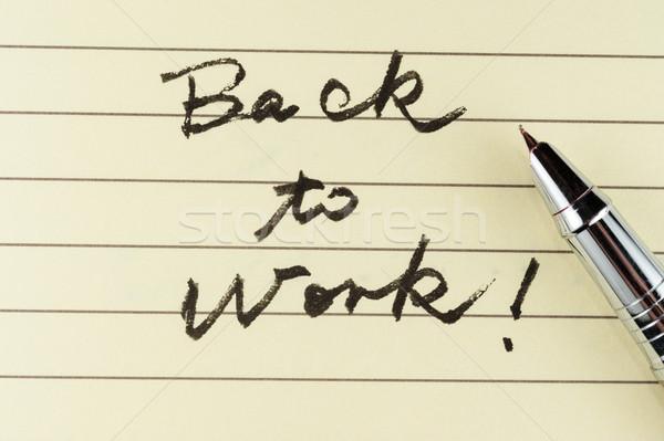 Back to work Stock photo © raywoo