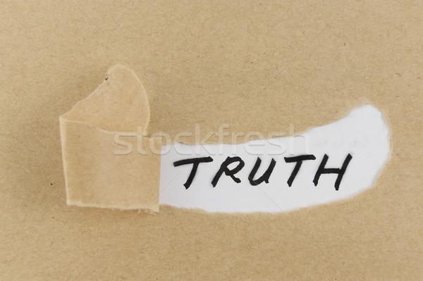 Truth word Stock photo © raywoo