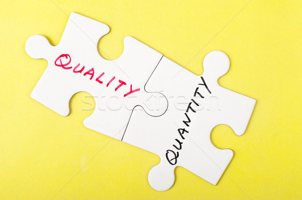 Quality or quantity Stock photo © raywoo
