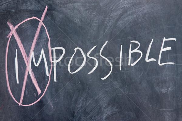 Schoolbord schrijven onmogelijk mogelijk brief Blackboard Stockfoto © raywoo