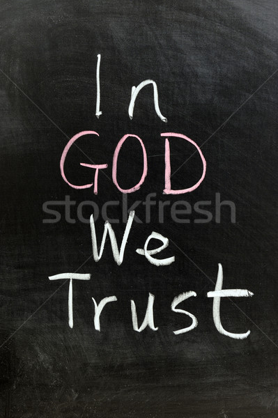 In god we trust Stock photo © raywoo
