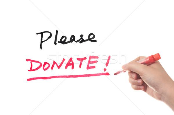 Foto d'archivio: Donare · parole · scritto · soldi · pen