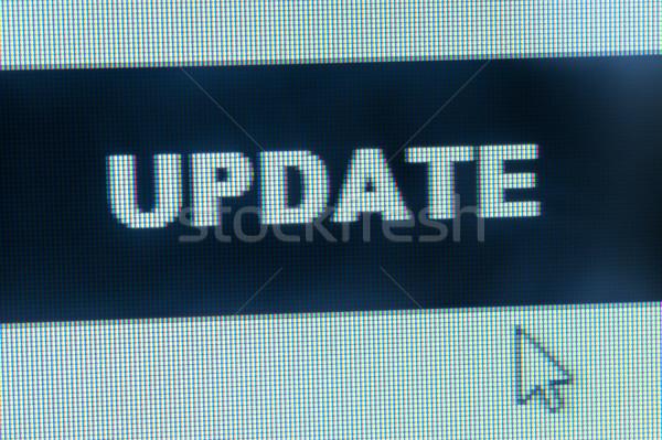 Bijwerken woord cursor computer internet Stockfoto © raywoo