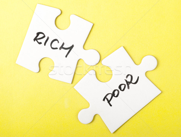 Rich and poor words Stock photo © raywoo