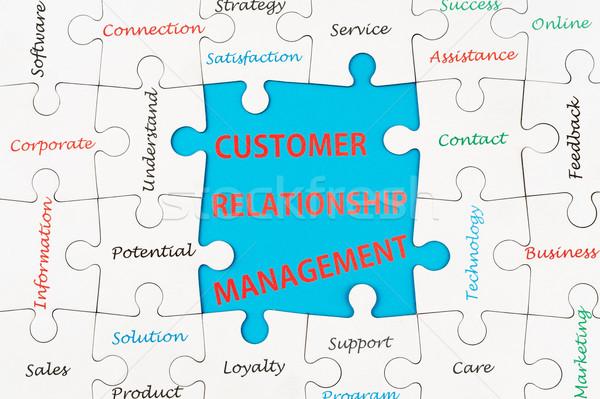 Cliente relação gestão nuvem da palavra grupo Foto stock © raywoo