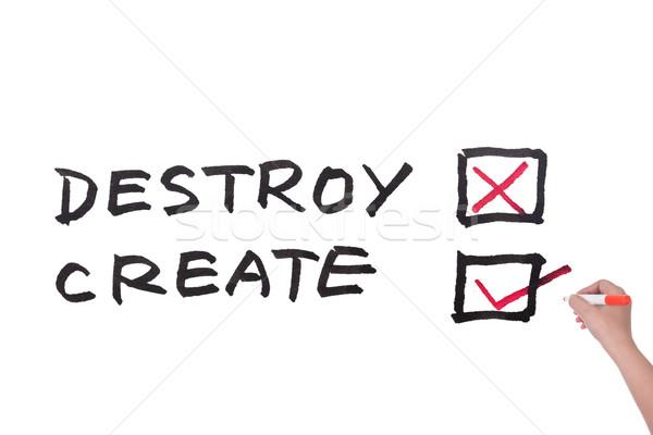 Destroy or Create Stock photo © raywoo