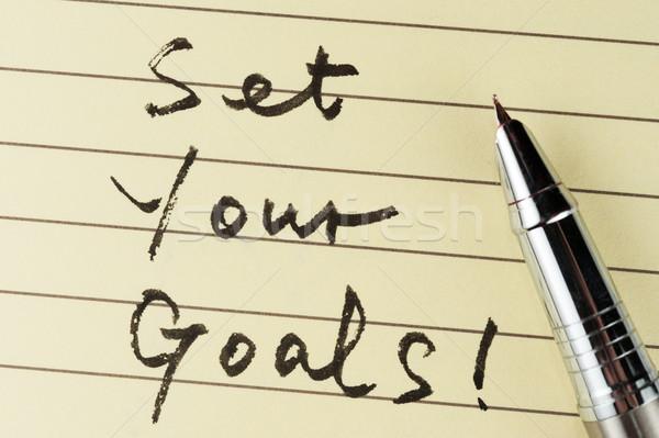 Set your goals Stock photo © raywoo