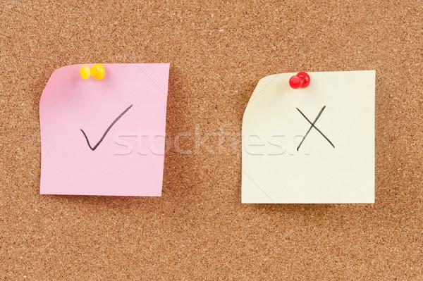 Check and cross mark Stock photo © raywoo