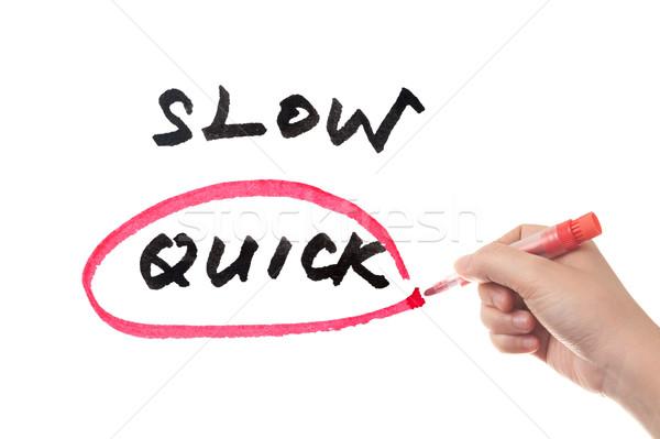 Devagar rápido escolher mão negócio Foto stock © raywoo