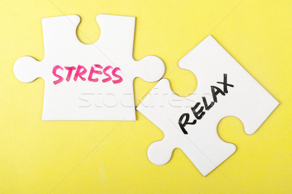 Stress and relax words Stock photo © raywoo